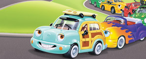 Chevron Cars Fun and Games CD